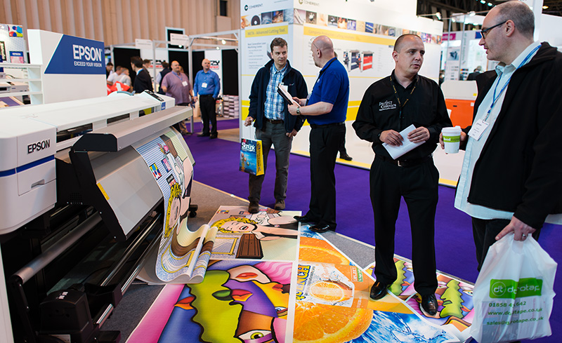 Epson Surecolor Sc50600 being demonstrated at the Sign and Digital show 2013. Nikon D800 with 24mm f1.4G