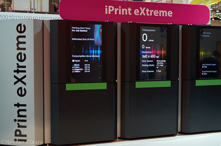 Impika's iPrint eXtreme inkjet printer, seen here at the Drupa 2012 show.