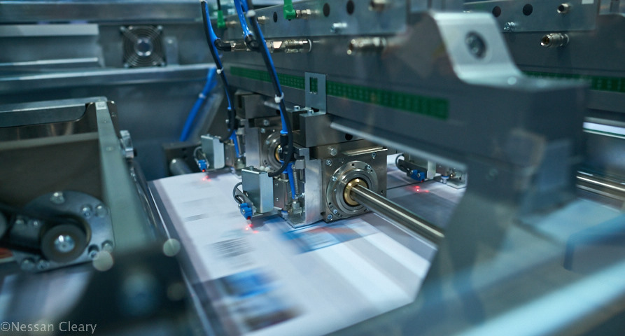Hunkeler demonstrated this DP8 Punching and perforating module, part of its POPP8 series.